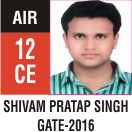 Peeyush Kr. Shrivastav, GATE 2016, RANK 12